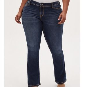 Torrid mid rise boot cut jeans
